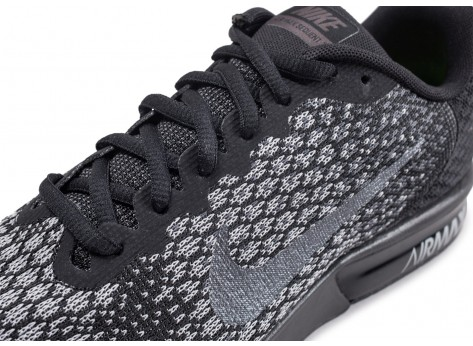 Chaussures Nike Air Max Sequent 2 noire vue dessus