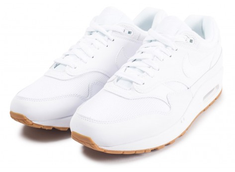 Chaussures Nike Air Max 1 blanche vue intérieure