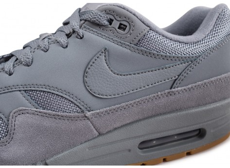Chaussures Nike Air Max 1 grise vue dessus