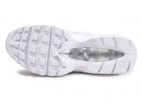Chaussures Nike Air Max 95 SE blanche Just Do It vue avant