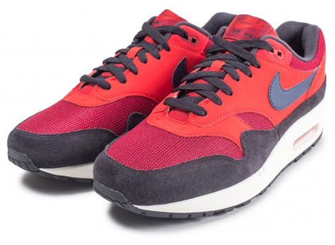 Chaussures Nike Air Max 1 rouge vue intérieure