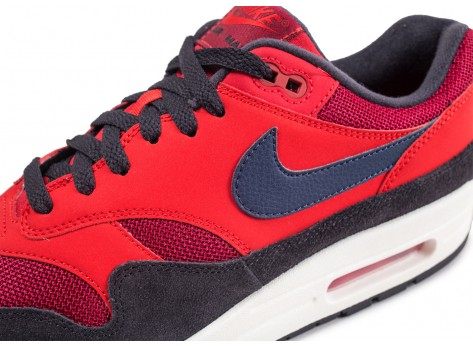 Chaussures Nike Air Max 1 rouge vue dessus