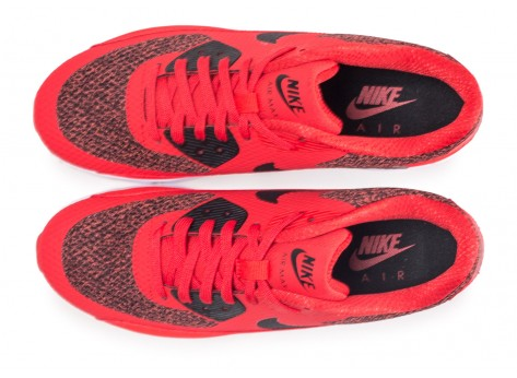 Chaussures Nike Air Max 90 Ultra 2.0 Essential rouge vue arrière