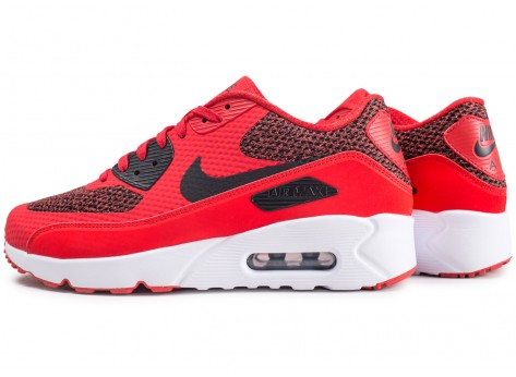 Nike Air Max 90 Ultra 2.0 Essential rouge - Chaussures Baskets ...