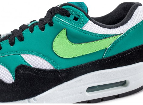 Chaussures Nike Air Max 1 vert neptune vue dessus