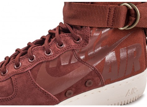 Chaussures Nike SF Air Force 1 Mid marron vue dessus
