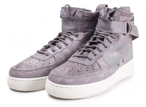 Chaussures Nike SF Air Force 1 Mid grise vue intérieure