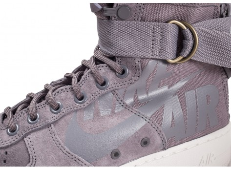 Chaussures Nike SF Air Force 1 Mid grise vue dessus
