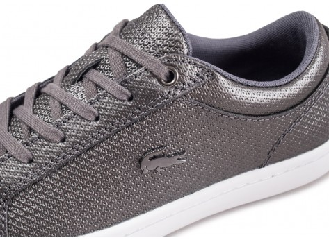 Chaussures Lacoste Straightset grise femme vue dessus