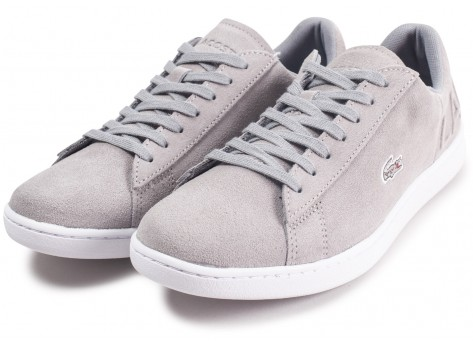 Chaussures Lacoste Carnaby Evo grise femme vue intérieure