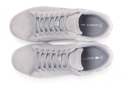 Chaussures Lacoste Carnaby Evo grise femme vue arrière