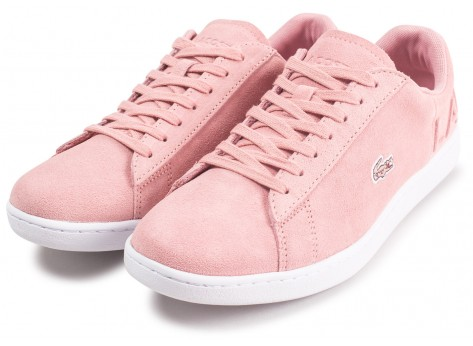 Chaussures Lacoste Carnaby Evo rose femme vue intérieure
