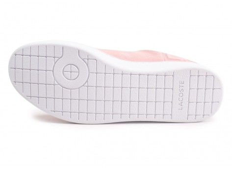 Chaussures Lacoste Carnaby Evo rose femme vue avant