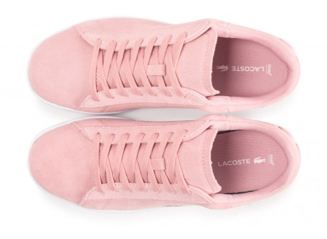 Chaussures Lacoste Carnaby Evo rose femme vue arrière