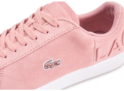 Chaussures Lacoste Carnaby Evo rose femme vue dessus