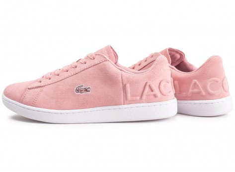 Chaussures Lacoste Carnaby Evo rose femme vue extérieure