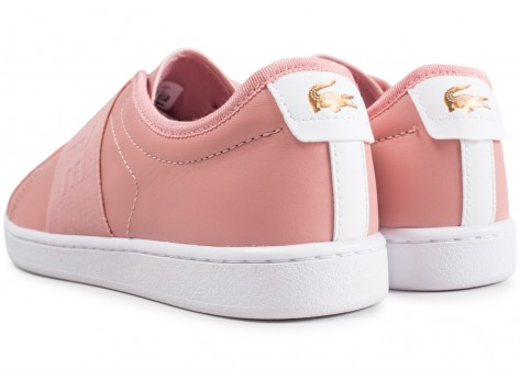 Chaussures Lacoste Carnaby Evo Slip rose vue dessous
