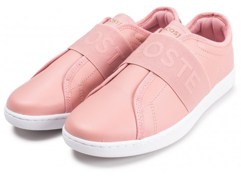 Chaussures Lacoste Carnaby Evo Slip rose vue intérieure