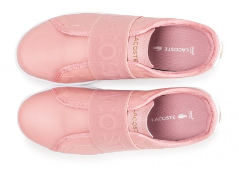 Chaussures Lacoste Carnaby Evo Slip rose vue arrière