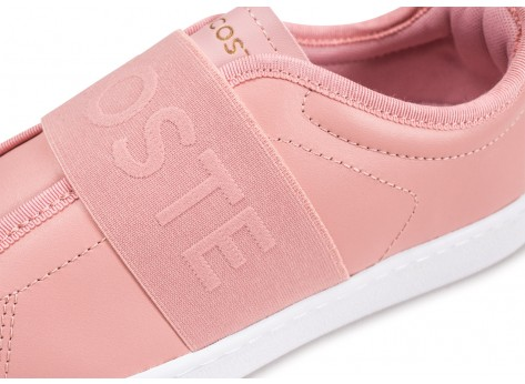 Chaussures Lacoste Carnaby Evo Slip rose vue dessus