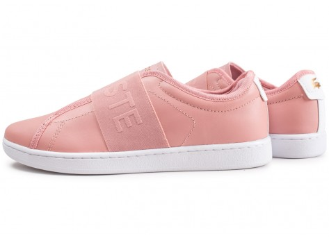 Chaussures Lacoste Carnaby Evo Slip rose vue extérieure