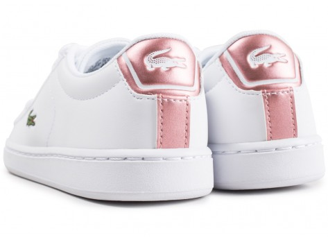 Chaussures Lacoste Carnaby Evo blanche enfant vue dessous