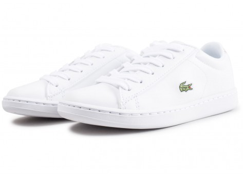 Chaussures Lacoste Carnaby Evo blanche enfant vue intérieure