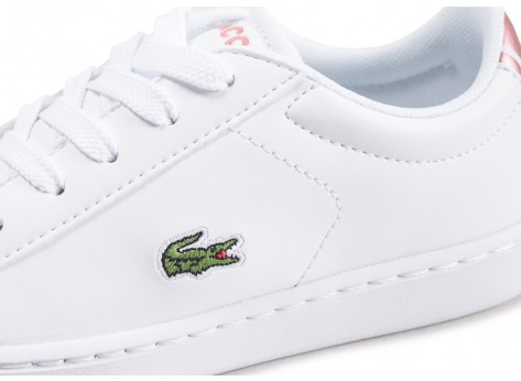 Chaussures Lacoste Carnaby Evo blanche enfant vue dessus