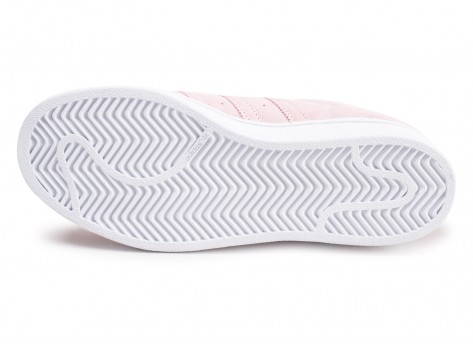 Chaussures adidas Superstar rose junior  vue avant