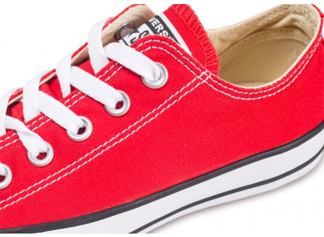 Chaussures Converse Chuck Taylor All Star Low rouge vue dessus