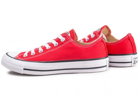 Chaussures Converse Chuck Taylor All Star Low rouge vue extérieure