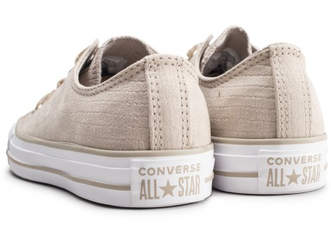 Chaussures Converse Chuck Taylor All Star Low beige femme vue dessous