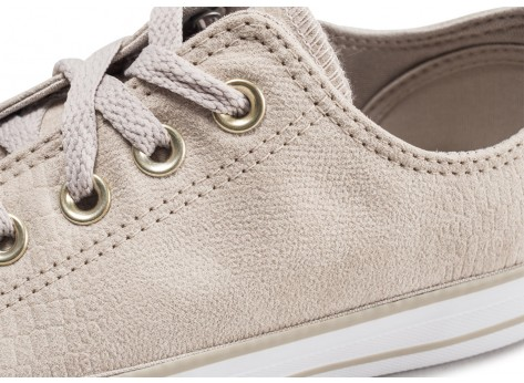 Chaussures Converse Chuck Taylor All Star Low beige femme vue dessus