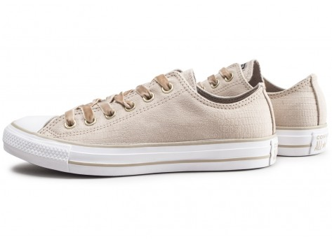 Converse Chuck Taylor All Star Low beige femme Chaussures