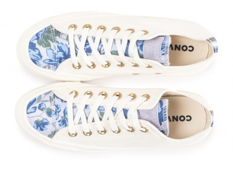 Chaussures Converse Chuck Taylor All Star Low Parkway Floral blanche femme vue arrière