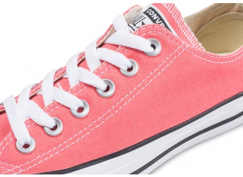 Chaussures Converse Chuck Taylor All Star low rose clair vue dessus