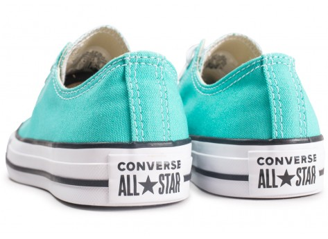 Chaussures Converse Chuck Taylor All Star Low bleu turquoise  vue dessous