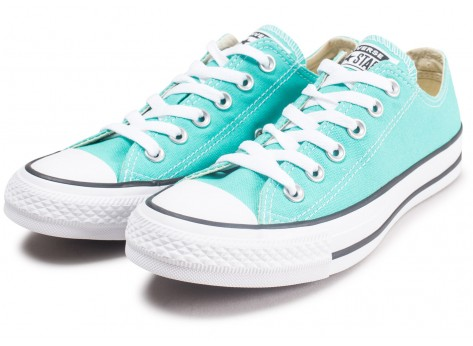 Chaussures Converse Chuck Taylor All Star Low bleu turquoise  vue intérieure
