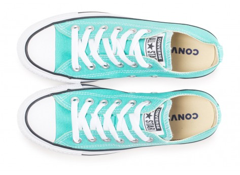 Chaussures Converse Chuck Taylor All Star Low bleu turquoise  vue arrière