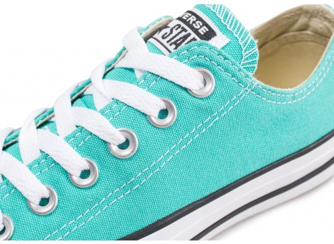 Chaussures Converse Chuck Taylor All Star Low bleu turquoise  vue dessus