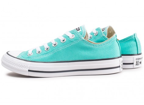 Chaussures Converse Chuck Taylor All Star Low bleu turquoise  vue extérieure
