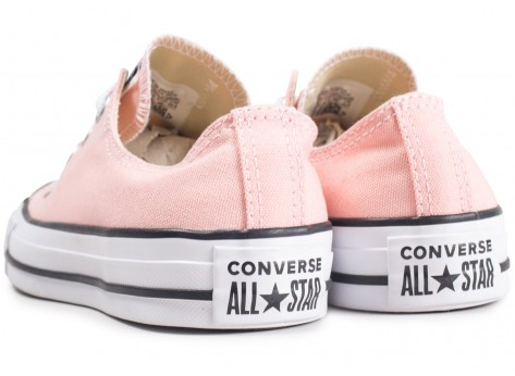 Chaussures Converse Chuck Taylor All Star Low rose  vue dessous
