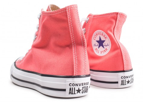 Chaussures Converse Chuck Taylor All Star High orange femme vue dessous