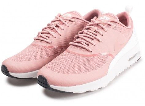 Chaussures Nike Air Max Thea rose et blanche femme vue intérieure