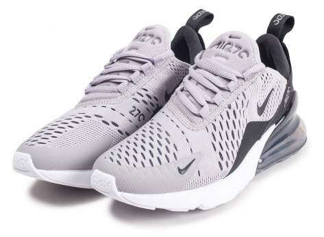 Chaussures Nike Air Max 270 grise femme vue intérieure