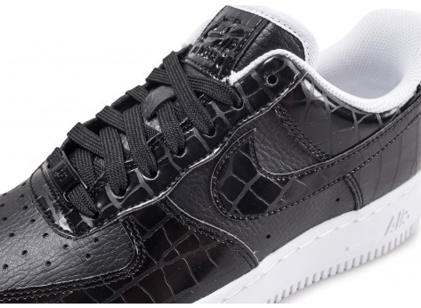 Chaussures Nike Air Force 1'07 Essential noire vue dessus