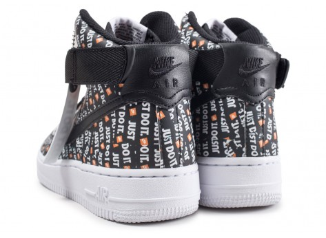 Chaussures Nike Air Force 1 High LX Just Do it noire vue dessous