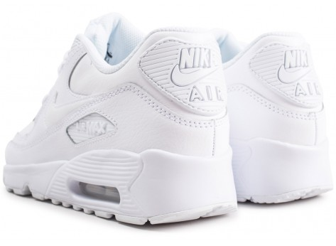 Chaussures Nike Air Max 90 Leather blanc junior vue dessous
