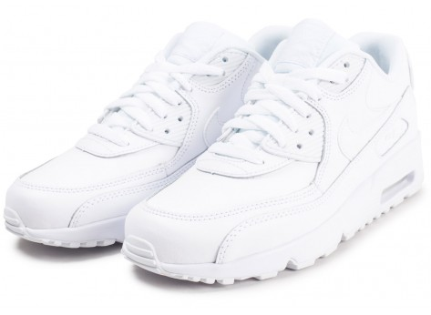 Chaussures Nike Air Max 90 Leather blanc junior vue intérieure