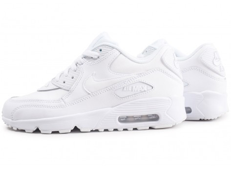 Chaussures Nike Air Max 90 Leather blanc junior vue extérieure